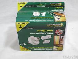 NEW Wireless Command Closet Light Set White WC-6035-WH Zeni
