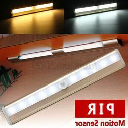 10LED Wireless PIR Motion Sensor Closet Light Night Cabinet