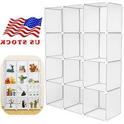 12-Cube Book Shelf Storage Shelves Closet Organizer Shelf Ca