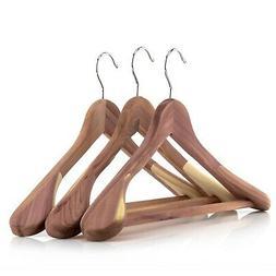 """Hangerworld™ 17.7"""" Cedar Wooden Clothes Hanger Non-Slip Tr"""