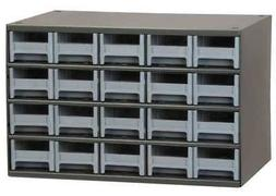 "AKRO-MILS 19320 11""L x 17""W x 11""H Gray Drawer Bin Cabinet"