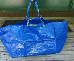 2Pk IKEA FRAKTA Large Blue Reusable 19-Gallon Tote Bag