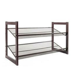 2Tier Metal Shoe Rack Ajustable Shoe Shelf Closet Space Savi