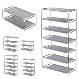 3/4/5/6/7 Tier Metal Shoe Rack Organizer Shelf Stand Wall Be