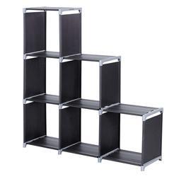 3-tier Storage Cube Closet Organizer Shelf 6-cube Cabinet Bo