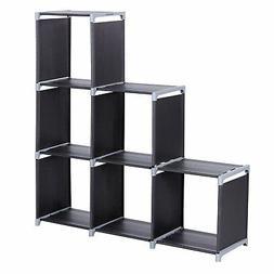 SONGMICS 3-tier Storage Cube Closet Organizer Shelf 6-cube C