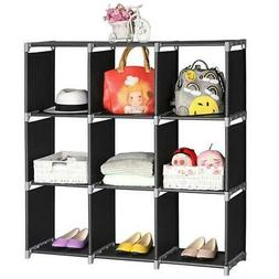 3 Tier Storage Cube Closet Organizer Shelf 9 Cube Cabinet Bo