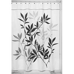 "InterDesign 35623 Leaves Fabric Shower Curtain - Stall, 54"""