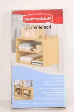 Rubbermaid 3E28 Configurations 3 Shelf Hanging Unit, Maple