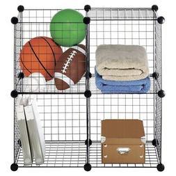 4 cube storage shelves closet organizer stackable