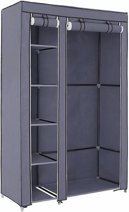 SONGMICS 43 Inch Portable Clothes Closet Wardrobe with Non-w