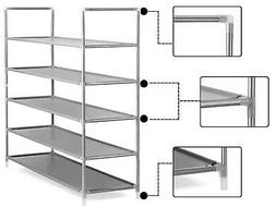 5 Tier 50 Pairs Shoe Rack Shelf Storage Cabinet Closet Stand