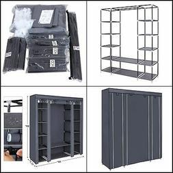 59 Inch Closet Organizer Wardrobe Closet Portable Closet she