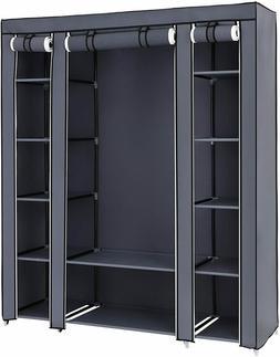 SONGMICS 59 Inch Closet Organizer Wardrobe Closet Portable C