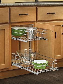 Rev-A-Shelf 5WB2-0918-CR Base Cabinet Pullout 2 Tier Wire Ba