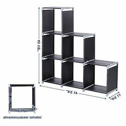 6 Cube Organizer 3 Tier Storage Closet Organizer Shelf Cabin