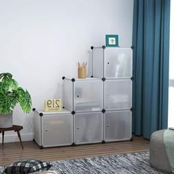 6 Cubes Plastic Closet Cabinet, Storage Shelves with Doors m