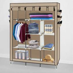 "69"" Portable Closet Wardrobe Clothes Ample Storage Space Org"