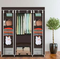"69"" Portable Clothes Closet Wardrobe Storage Organizer Non-W"