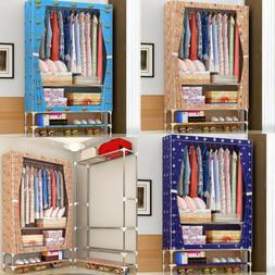 """72"""" Closet Portable Wardrobe Bedroom Armoires Clothes Storag"""