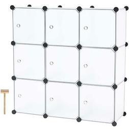 9 Cube DIY Portable Closet Storage Organizer Clothes Wardrob