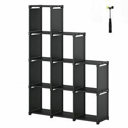 SONGMICS 9-Cube DIY Storage Shelves, Open Bookshelf, Closet