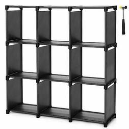 SONGMICS 9 Cube DIY Storage Shelves Open Bookshelf Closet Or