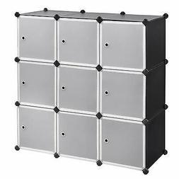 9 Cube Stackable Organizer Closet Storage Wardrobe Clothes R