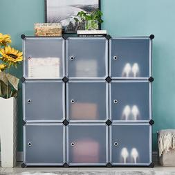 9 Cubes DIY Modular Closet Cabinet Bookcase Storage Display