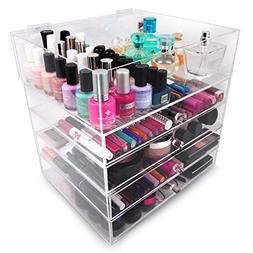 Sorbus 5-Tier Acrylic Cosmetic and Makeup Storage Case Organ