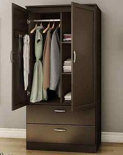 South Shore Acapella Wardrobe Armoire - 35.5 x 19.5 x 71.3 -