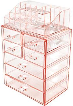 Acrylic Cosmetic Makeup and Jewelry Storage Case Display Org