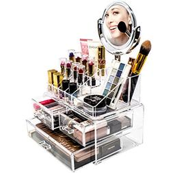 Sorbus Acrylic Cosmetic Makeup and Jewelry Storage with Magn