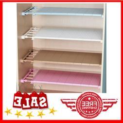 Adjustable Closet Organizer Storage Shelf Wall Mounted Kitch