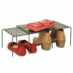 mDesign Adjustable / Expandable Metal Closet Storage Shelves