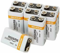 AmazonBasics 9 Volt Alkaline Batteries  EXP 2021, New sealed