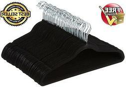 Basics Standard Hangers Velvet Suit - 50-Pack, Black Home &a