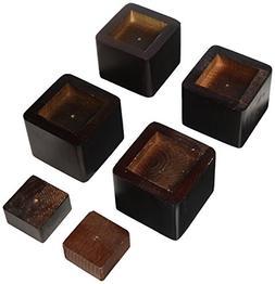Bed Risers  - Color: Espresso
