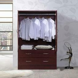 Bedroom Armoire 2-door 2-drawers wardrobe storage closet cab