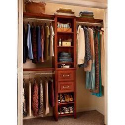 ClosetMaid Wood Closet System 48 in. W - 108 in. W Dark Cher