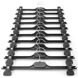 "Hangerworld™ Black 13.7"" Plastic Clip Coat Clothes Hanger"