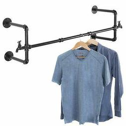 Closet Rod Black Metal Pipe Wall Mounted Faucet Design Garme
