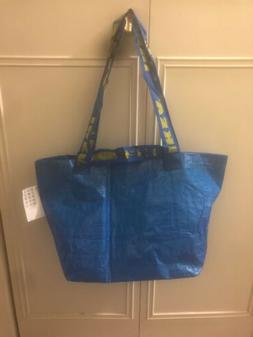 IKEA BRATTBY FRAKTA Small Blue Shopping Tote Bags 10 5/8 x 2