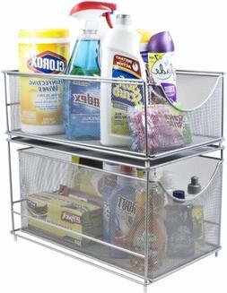 Sorbus Cabinet Organizer Set —Mesh Storage Organizer with