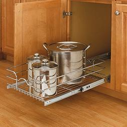 Rev-A-Shelf In Cabinet Pull Out Chrome Wire Basket Pan Pot S