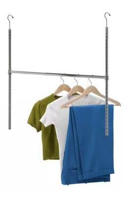 Chrome Adjustable Hanging Closet Rod