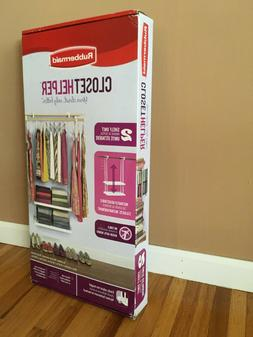 *Rubbermaid Closet Helper 2 Shelf Unit Instantly Adjustable