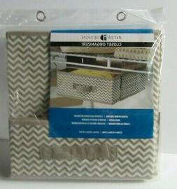 InterDesign Closet Organizer Hanging Fabric Drawer For Wire