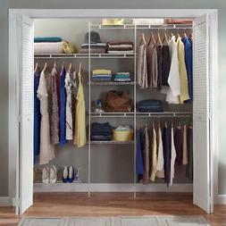 Closet Organizer Kit Storage Shelf System Clothes Shelves Sh