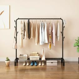 Closet Organizer Metal Garment Rack Portable Clothes Hanger
